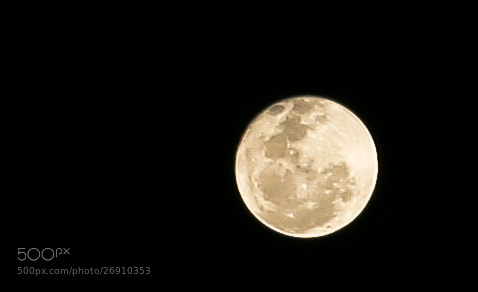 Photograph First Moon shot by Srinidhi S on 500px