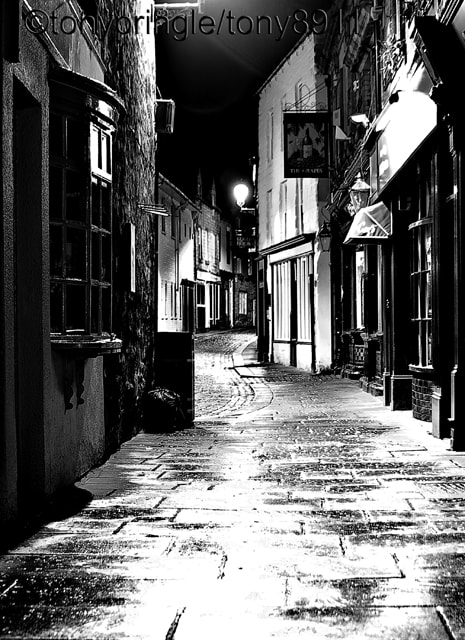 Photograph Wet Night in Back Street by Tony Pringle on 500px