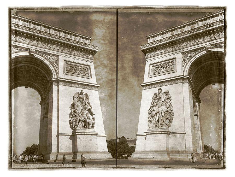 Arc de Triomphe diptych