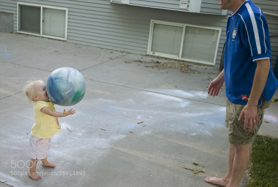 Rylee learns to catch, Summer, 2011