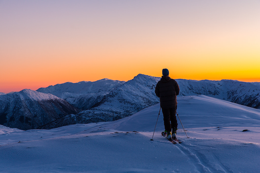Photograph 3 mountains and a small man by Espen Haagensen on 500px