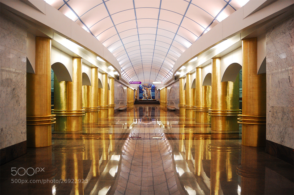 Photograph Mezhdunarodnaya Metro Station by Alex N. on 500px