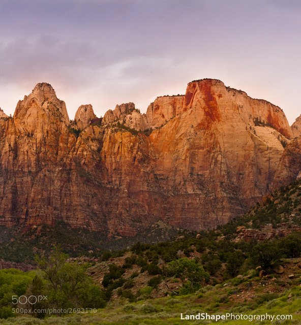 Photograph Cloudy Zion Morning by Lonnie Shull on 500px