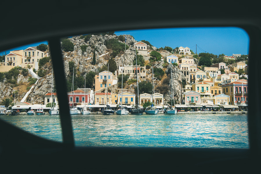 Backseat view over Greek island marina by Anna Ivanova on 500px.com