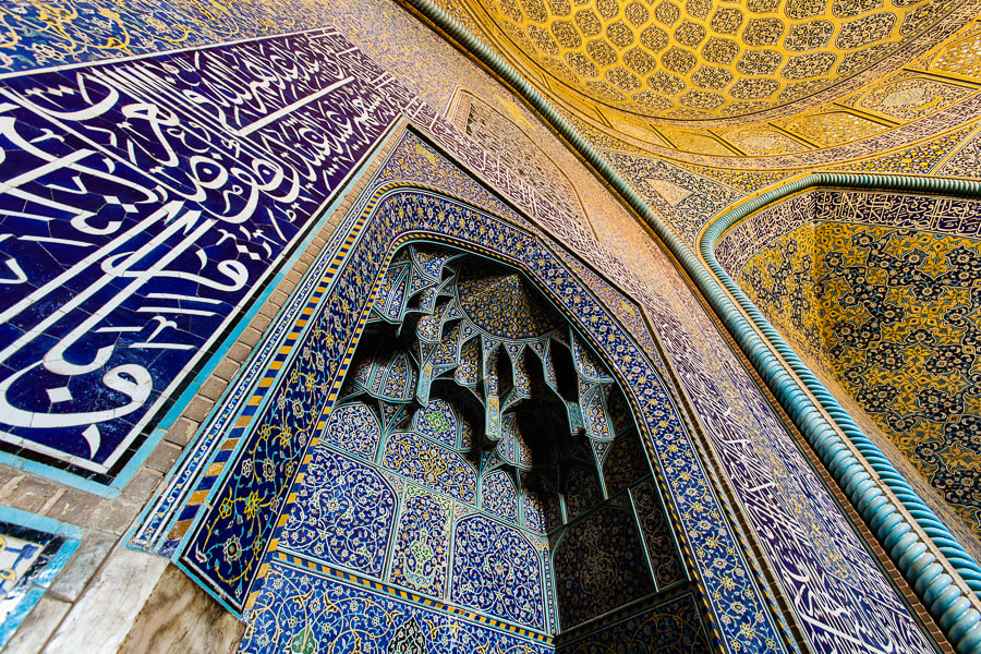 Photograph Wall of Sheikh Lotfollah Mosque by Damon Lynch on 500px