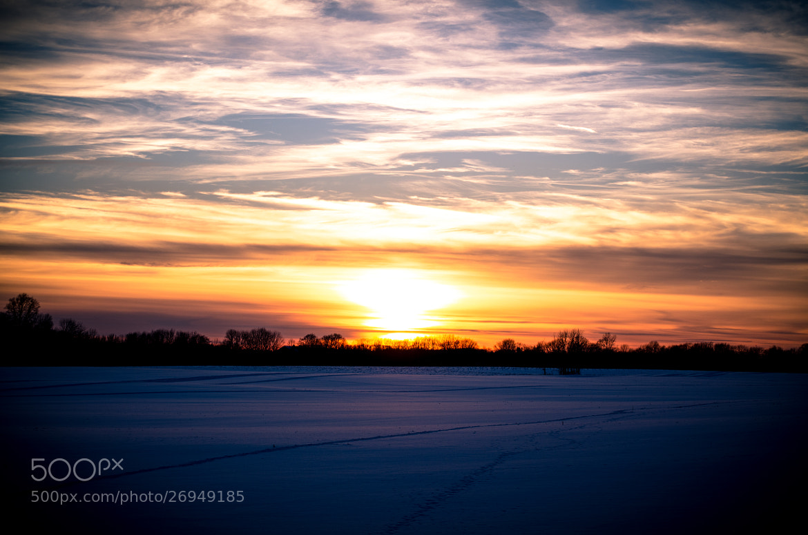 Photograph It's a snowy sunset tonight!  by Danny Kooiker on 500px