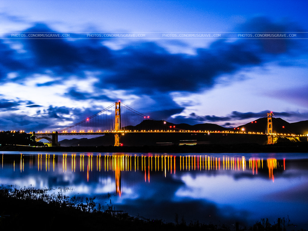 Photograph Golden Gate Bridge at Blue Hour by Conor Musgrave on 500px