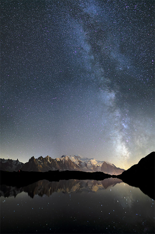 Photograph Milky way - Lac des Cheserys by Vittorio Vaninetti on 500px