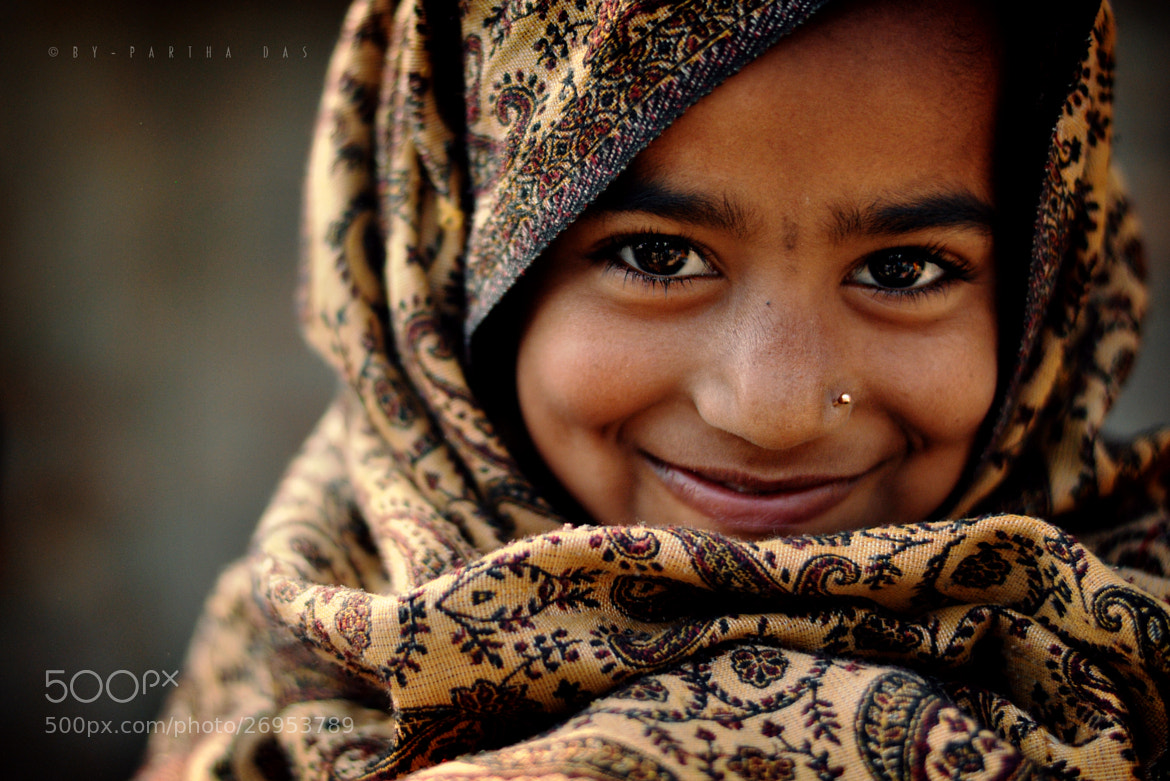 Photograph she smile... by Partha Das on 500px