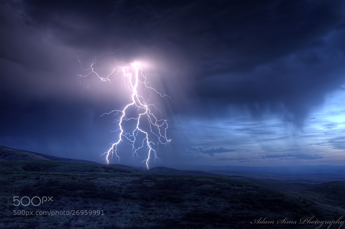 Photograph Lightning Strike by Adam  Sims on 500px
