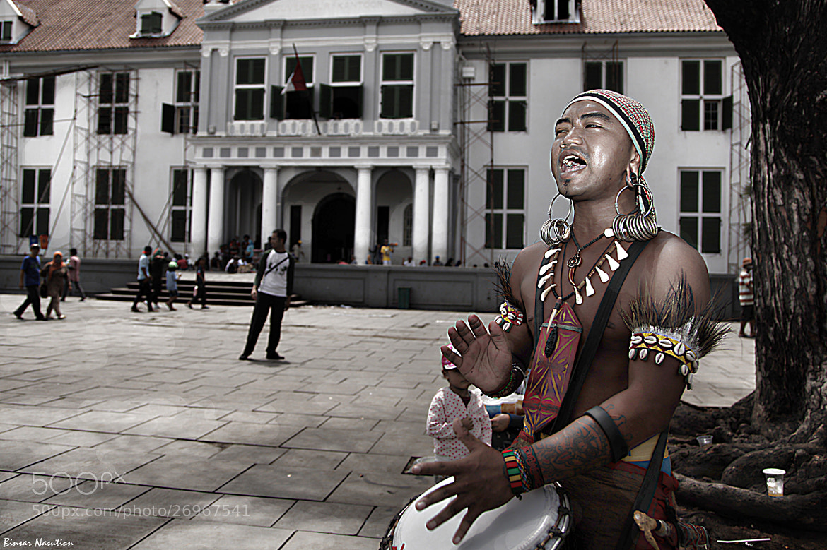 Photograph Street Artist by Binsar Nasution on 500px