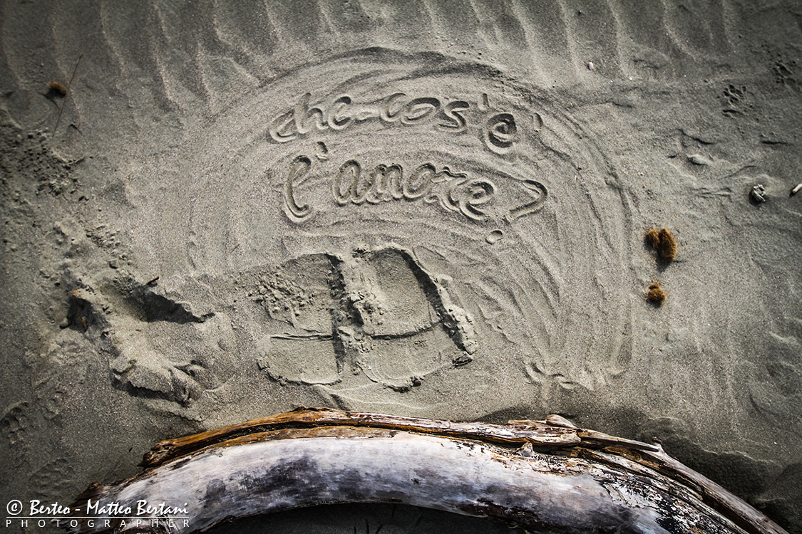 Photograph love letters in the sand by Matteo Bertani - Berteo on 500px