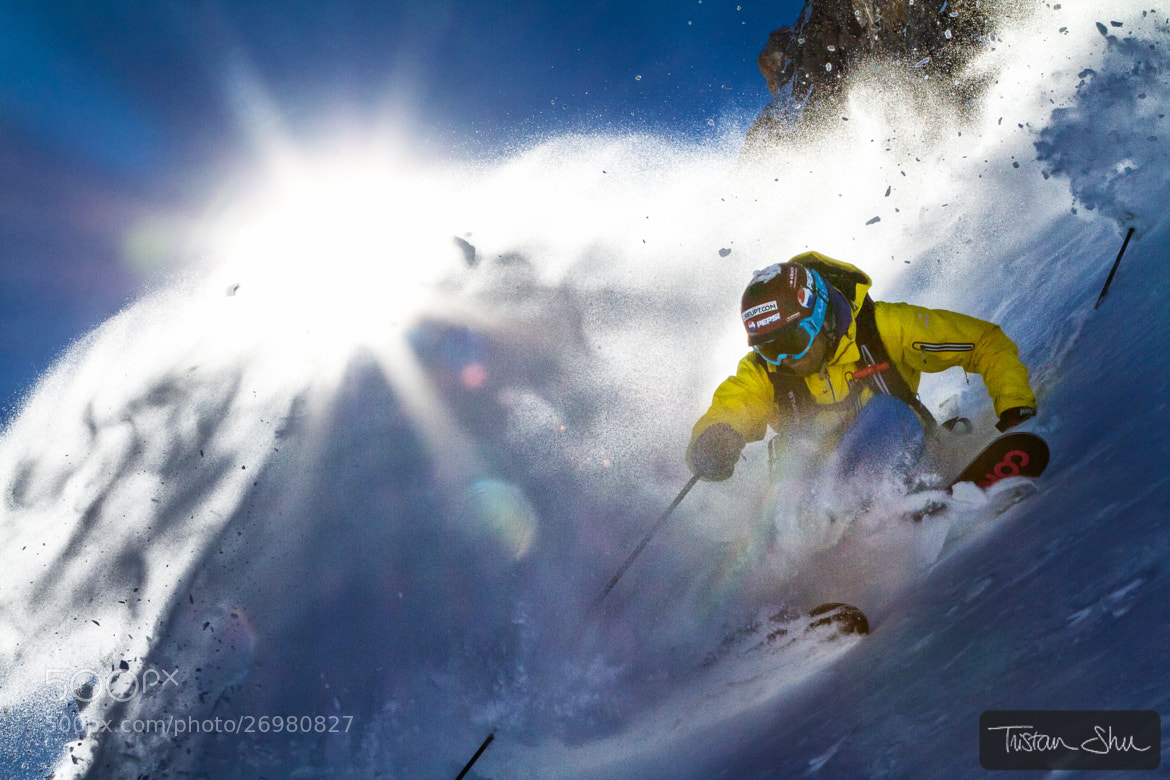Photograph Powerful Turn with Adrien Coirier by Tristan Shu on 500px