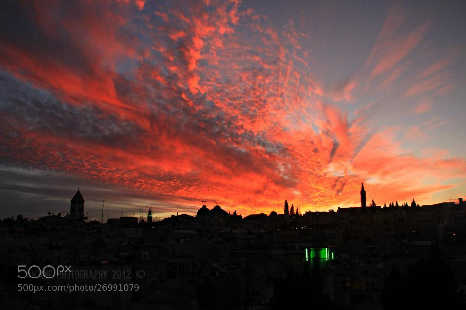 Photograph jerusalem sunset by Amane Quds on 500px