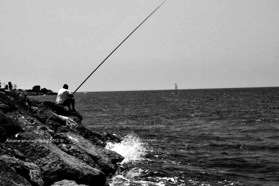 Photograph Fisherman in Haifa by Amane Quds on 500px
