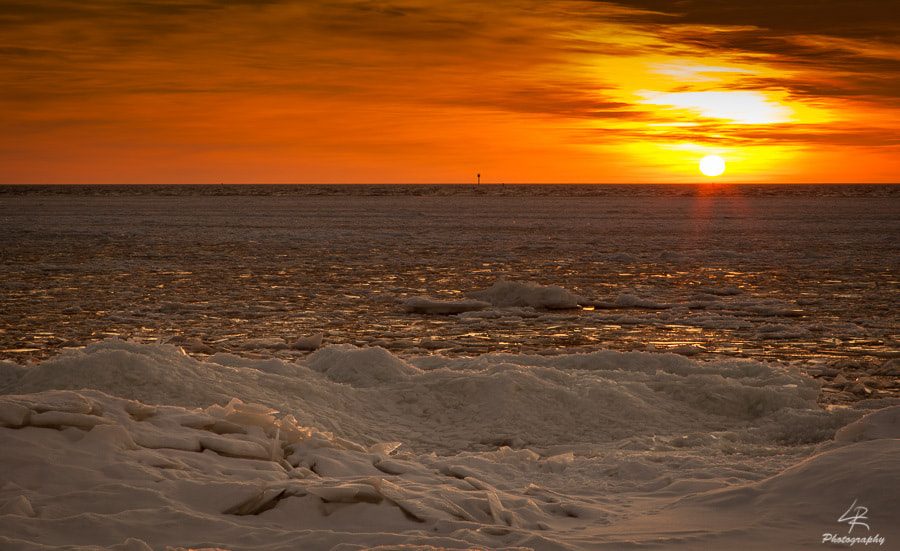 Photograph Icy Sunset by Leo Rantala on 500px