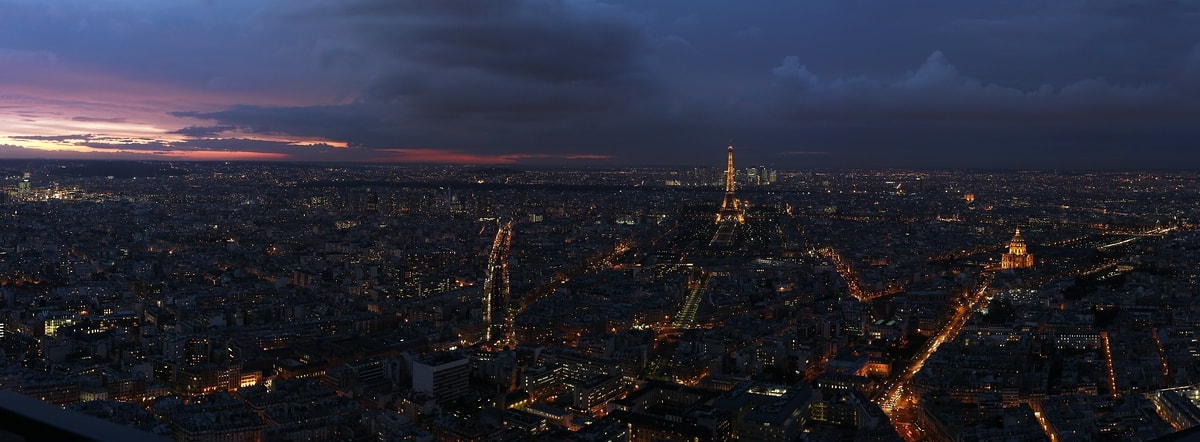 Photograph Purple Paris Project - Panoramic view by Arnd Gottschalk on 500px