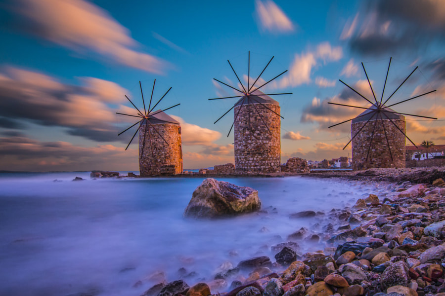 Chios Island Windmill's by Gürcan Kadagan on 500px.com