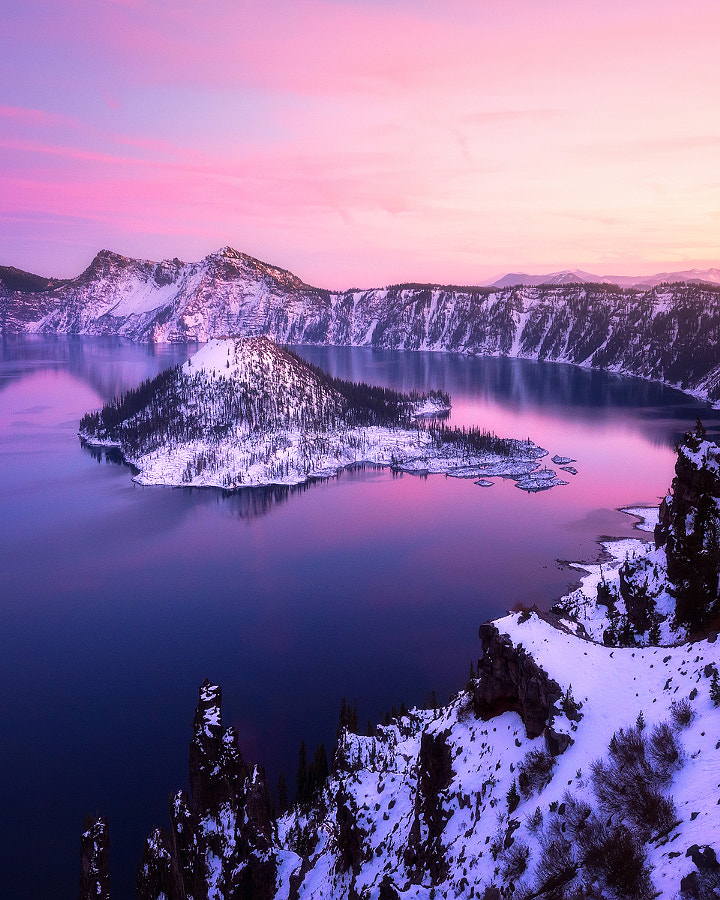 Soft Light at Crater Lake by Daniel Fleischhacker on 500px.com