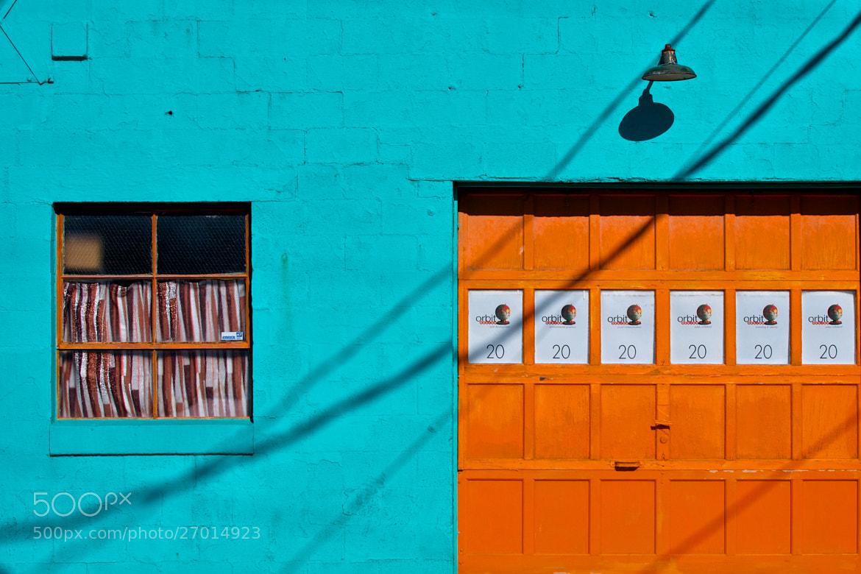 Photograph Blue wall orange door by Berkehaus  on 500px