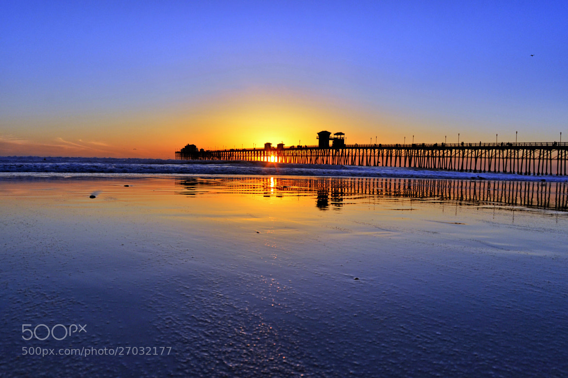 Photograph Sunset at Low Tide in Oceanside - February 27, 2013 by Rich Cruse on 500px