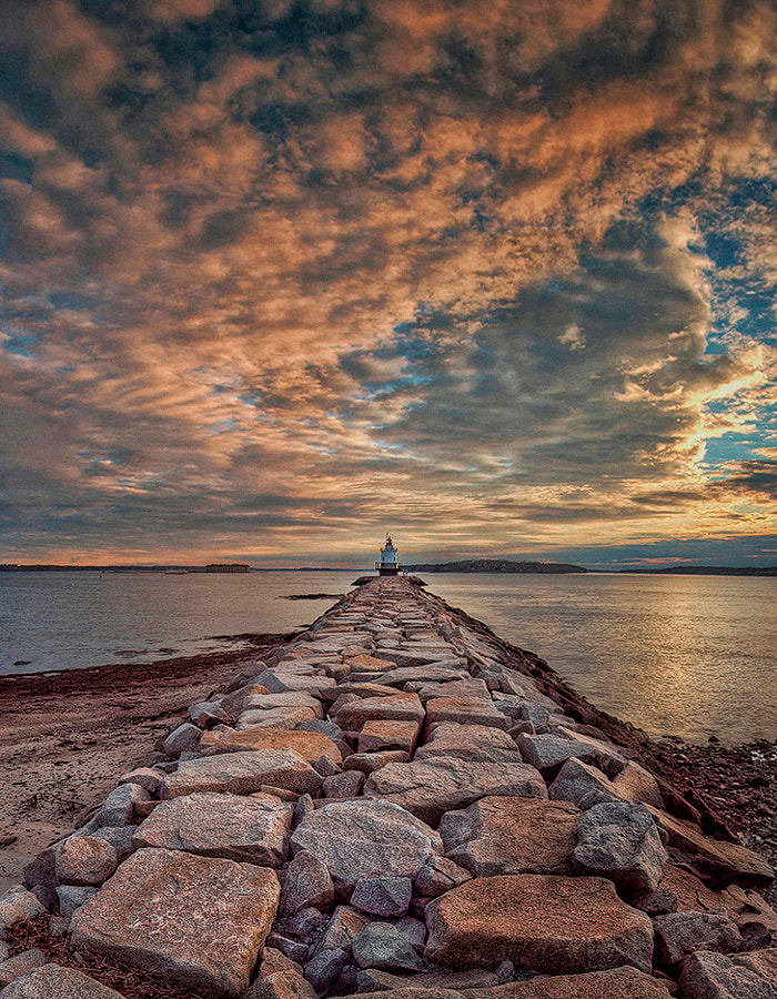 The lighthouse is located in South Portland, Maine.