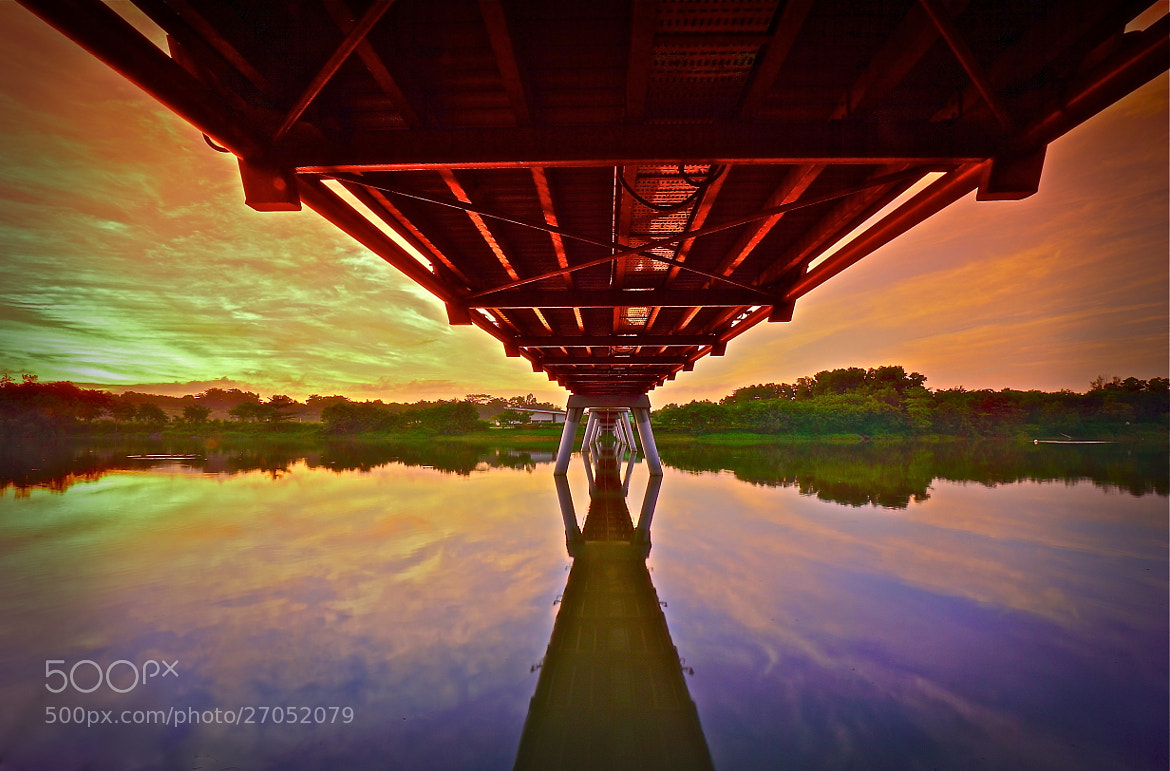 Photograph Fiery Bridge Sunrise  by Sim  Kim Seong on 500px