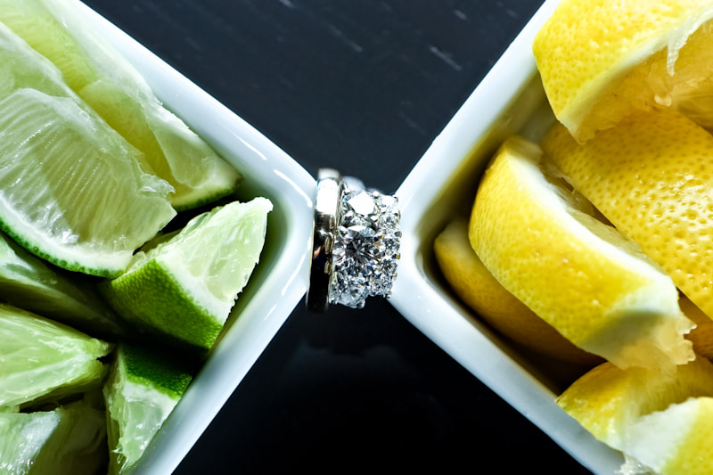 Photograph Lemon and Lime wedding rings by Doug Levy on 500px