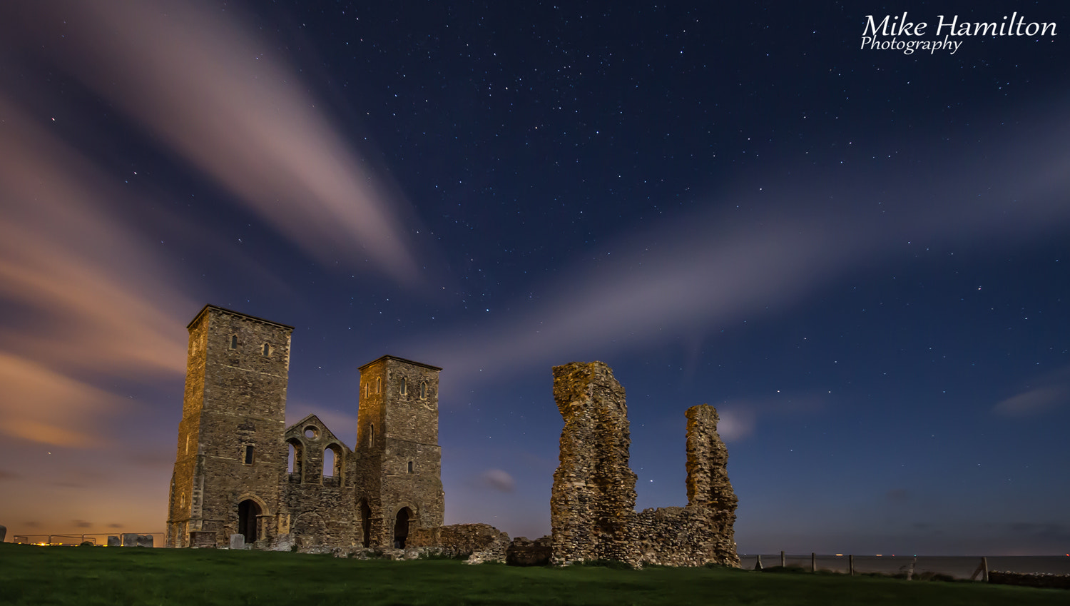 Photograph Night at Reculver by Michael  Hamilton on 500px