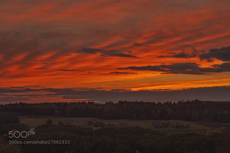 Photograph Heaven fire by Vytautas Mikalauskas on 500px