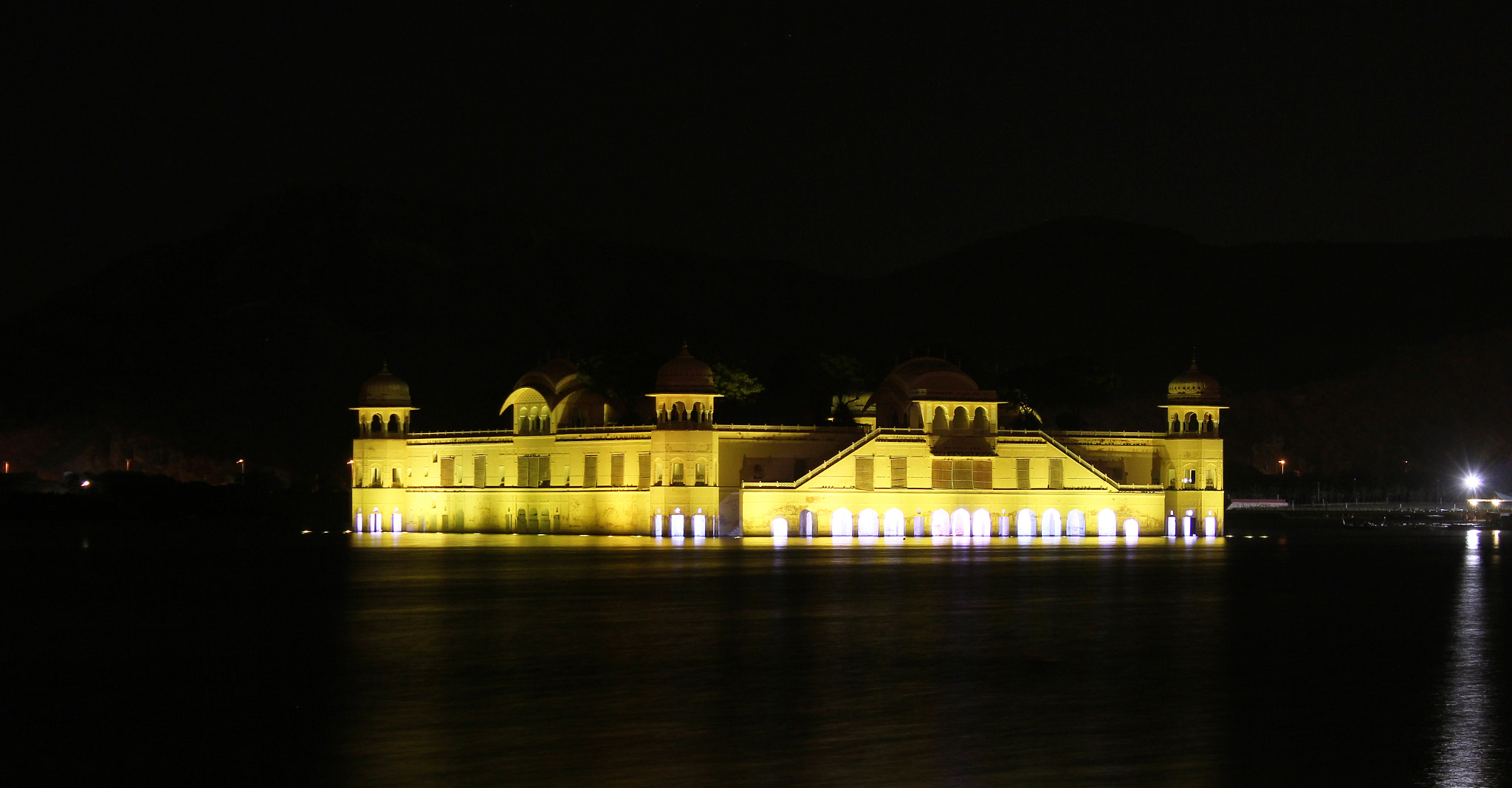 Photograph Jal Mahal At Night by Yashovardhan Sodhani on 500px