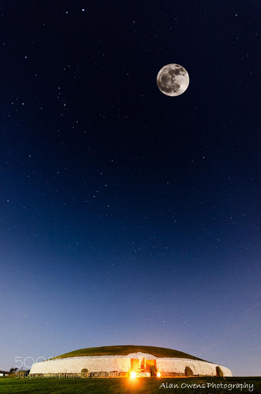 Photograph Newgrange: Moon & Stars by Alan Owens on 500px