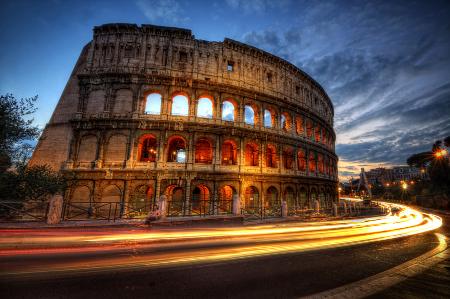 Photograph Colosseum Lite Trails by Yhun Suarez on 500px