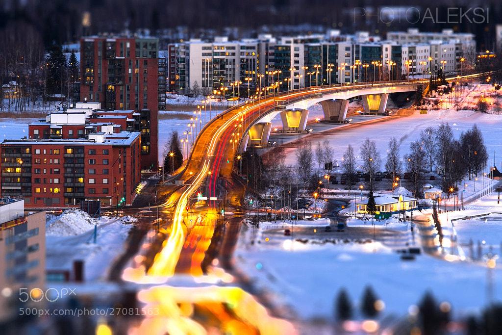 Photograph Night time tilt-shift by Aleksi Hämäläinen on 500px