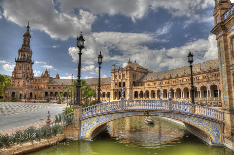 Plaza de Espana and Palacio Central - Seville by Guillaume Larrieu (GuillaumeLarrieu)) on 500px.com