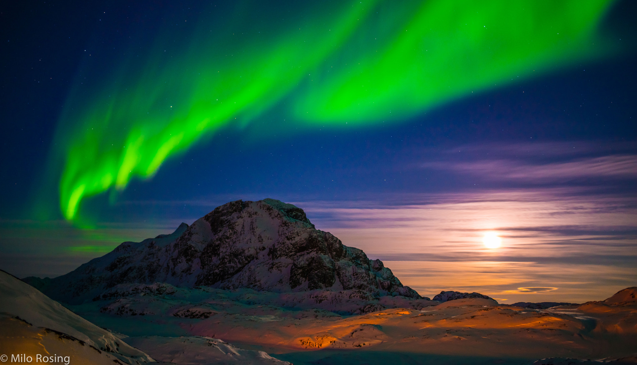 Photograph The Arctic Light Show by Milo Rosing on 500px