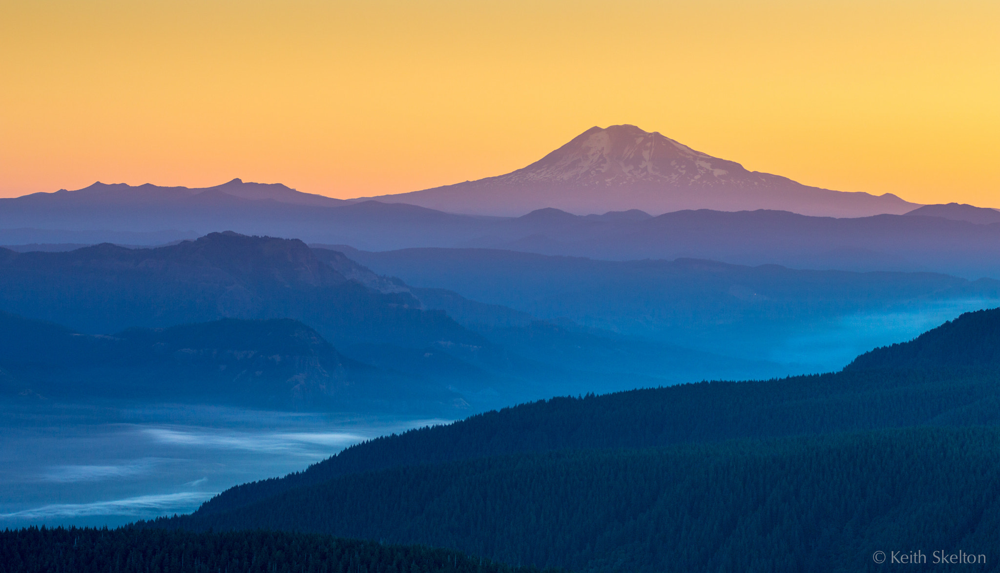 Photograph Mt. Adams and the Columbia Gorge by Keith Skelton on 500px
