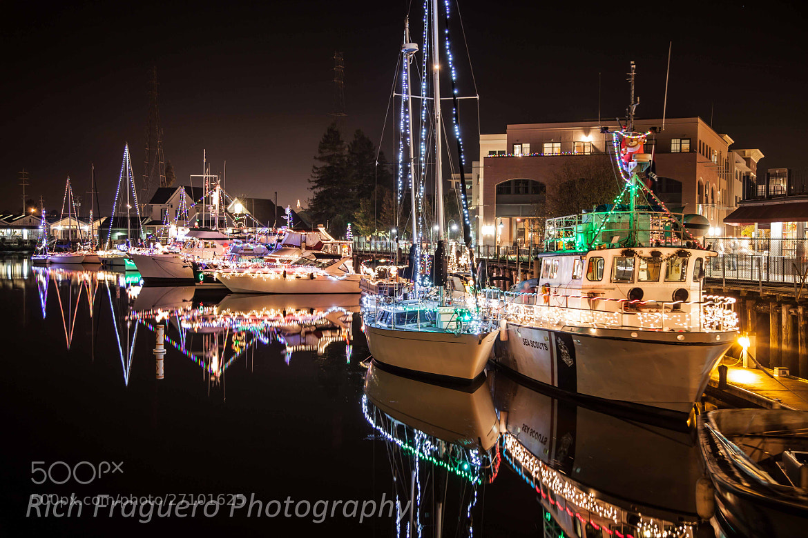 Photograph Holiday Boat Parade, Petaluma, CA by fraguero1 on 500px