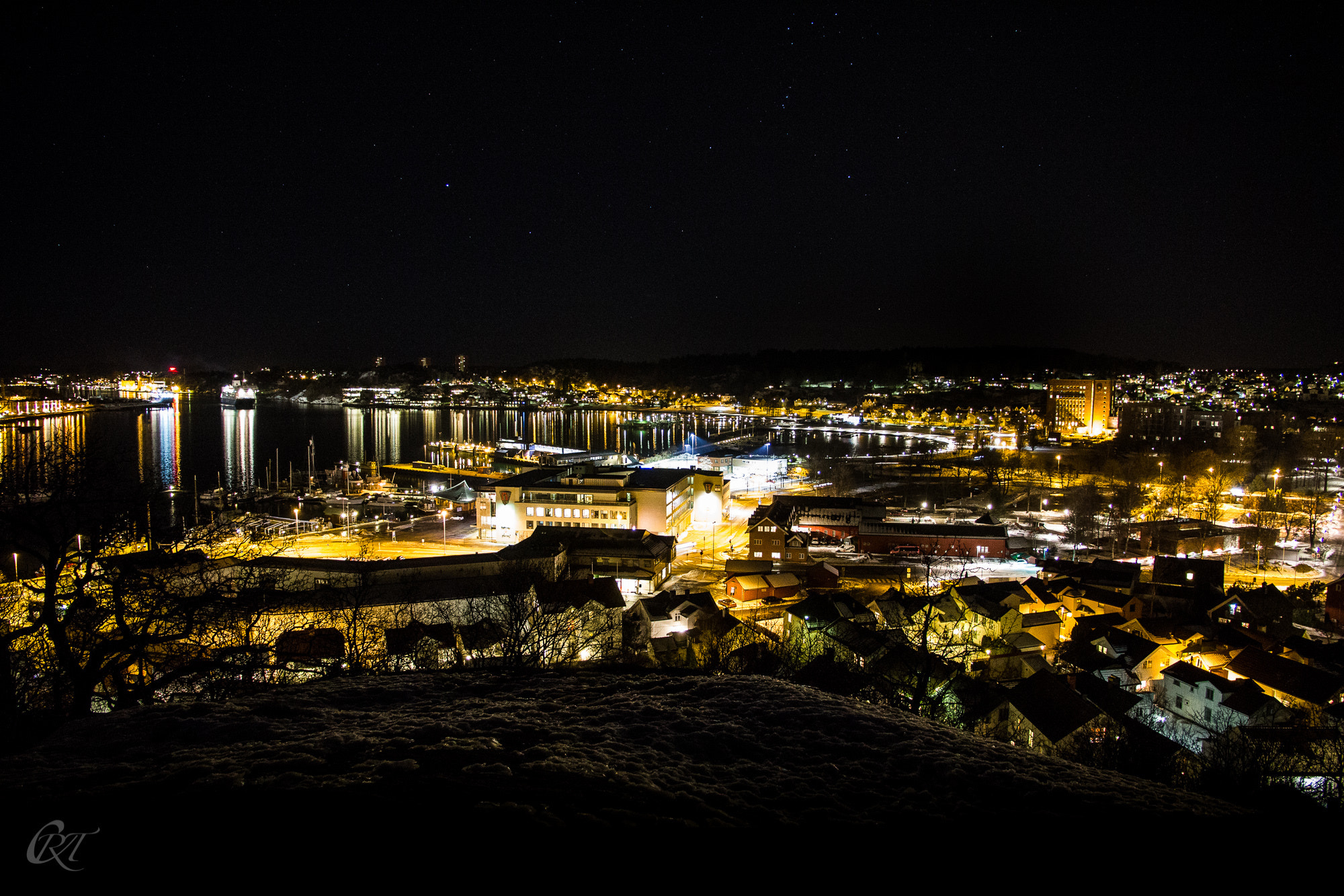 Photograph Sandefjord by night by Christina Rambo Tandberg on 500px