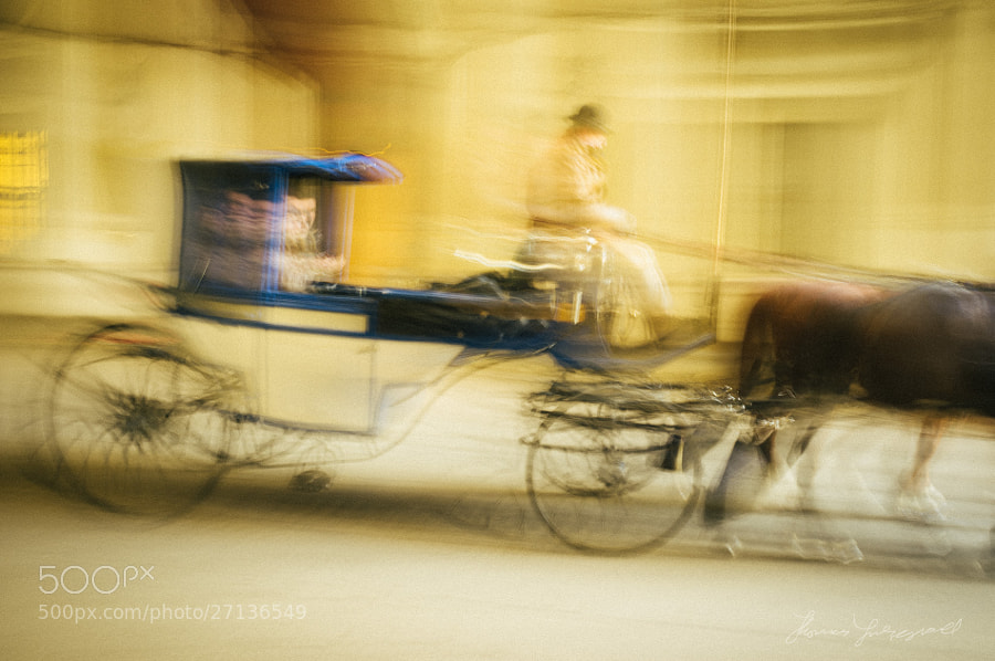 A horse and Cart in Motion, Taken in the wonderful city of Vienna Vienna, Fujifilm X100