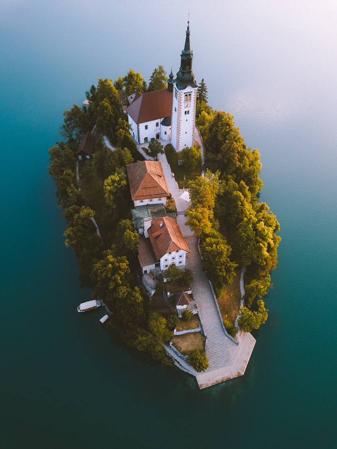 Bled from above. by Johannes Hulsch on 500px.com