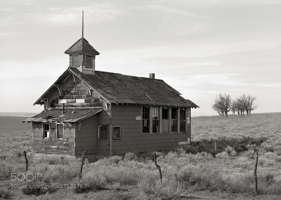 Photograph Abandoned Schoolhouse, Goodnoe Hills, Washington by Austin Granger on 500px