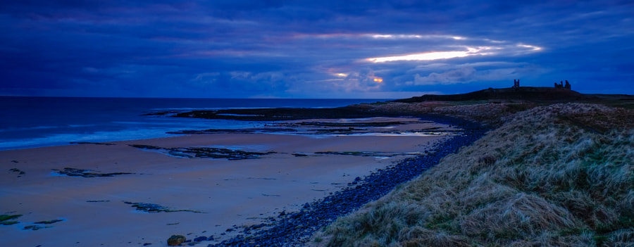 Moody sunrise at Dunstanburgh
