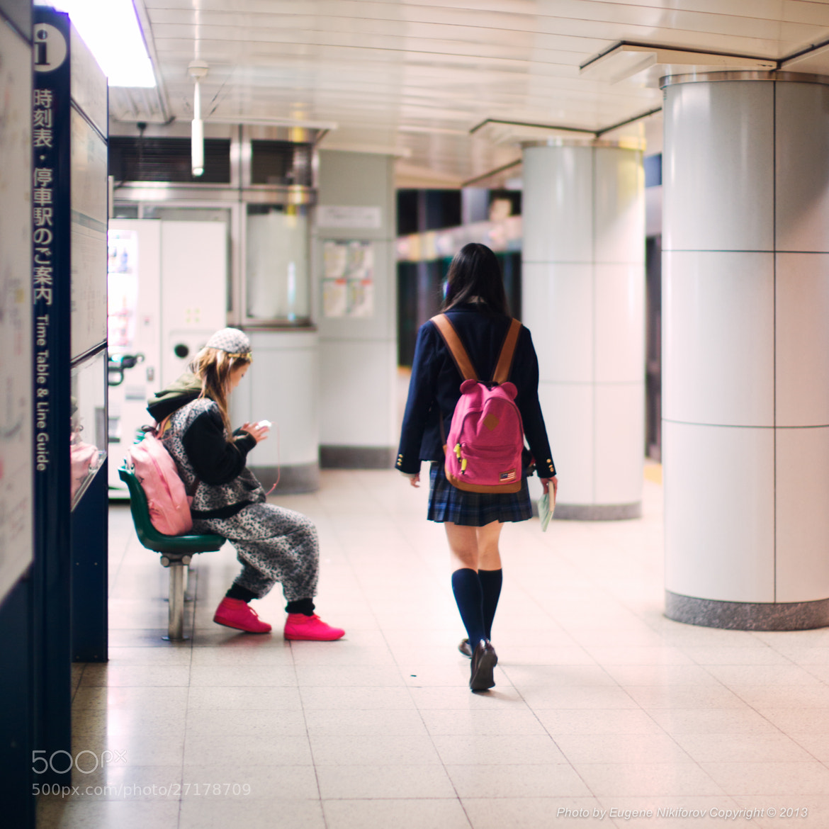 Photograph Shoes, Tokyo Subway by Eugene Nikiforov on 500px