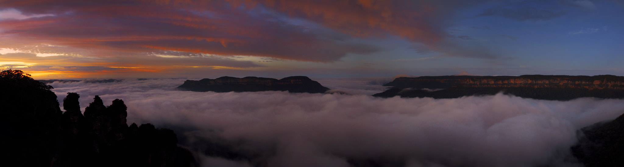 Photograph Foggy Start At The Three Sisters    KATOOMBA by Rhys Pope on 500px