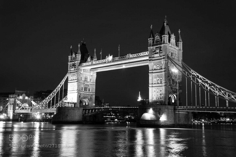 Photograph Tower Bridge B/W by Justin Barnes on 500px