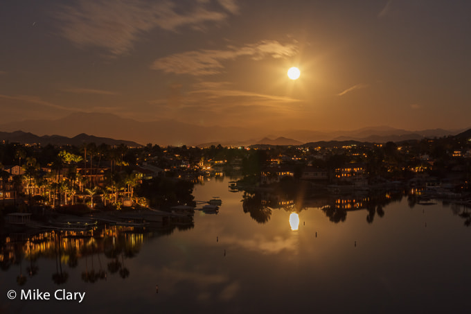 Photograph Full Moon Over Canyon Lake by Mike Clary on 500px