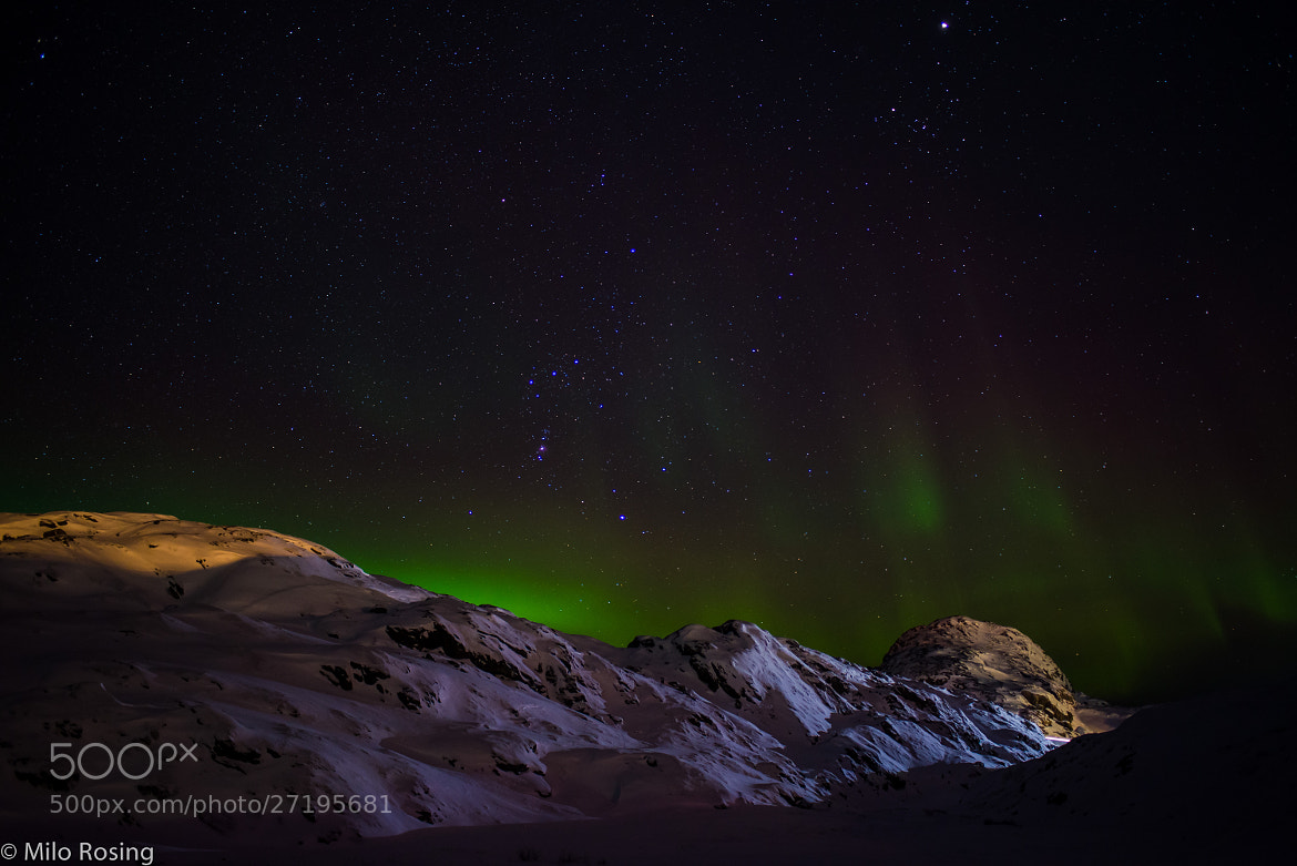 Photograph Greenland under the green lights by Milo Rosing on 500px