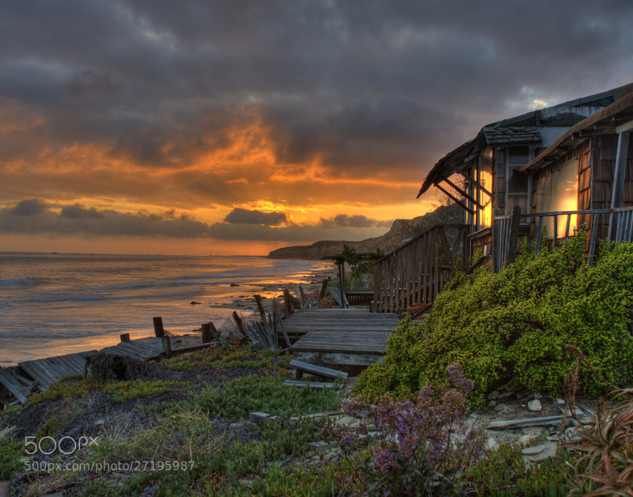 Crystal Cove Cottage Sunset By Pat Dwyer Fine Art