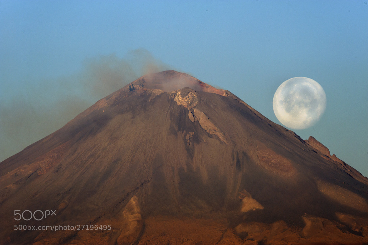 Photograph Popocatepetl and full moon by Cristobal Garciaferro Rubio on 500px